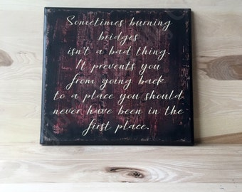 Inspirational sign, self esteem wood sign, positive quote wall art, custom wooden sign, inspirational quote, gift for a friend