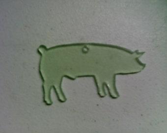 5 scrylic SHOW PIG key chain blank
