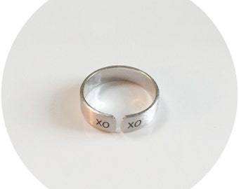 XOXO Etched Ring