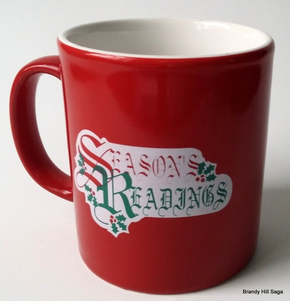 Vintage Kiln Craft Coffee Mug SEASONS READINGS Red Toy Soldier Book England FREESHIPPING