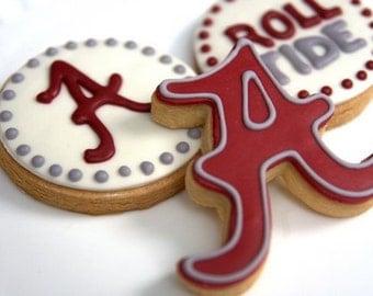 1 Dozen Decorative Cookies - Alabama