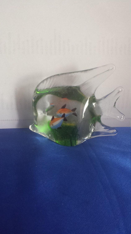 murano fish shaped glass aquarium paperweight. Black Bedroom Furniture Sets. Home Design Ideas