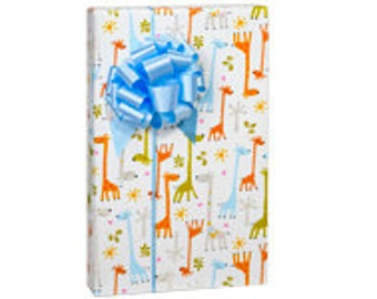 Baby Giraffe Baby Shower Gift Wrapping Paper 15ft