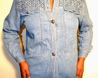 Vintage denim shirt/ Denim shirt/ Vintage denim/ Size L