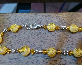 Yellow sunshine bracelet  #194