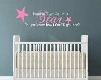 Nursery Wall Decal Twinkle Twinkle Little Star Sticker