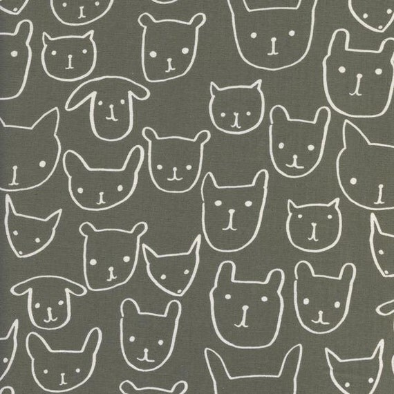 Changing Pad Cover >> Print Shop Hello in Gray >> Made-to-Order >> grey changing pad, cat dog bear changing pad, animal baby, modern nursery