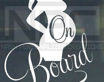 baby on board decal/sticker