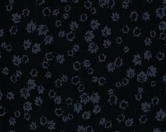 Black Onyx Leaves by Galaxy- 47511 - 100% Cotton Fabric