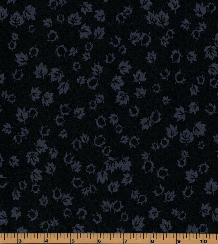 Black onyx leaves by galaxy 47511 100 cotton fabric for Galaxy fabric canada