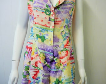 Australian Made Floral Vintage Romper 90's