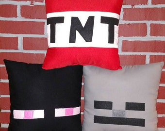 Bundle Inspired by Minecraft Pillow Set of Three