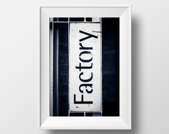 Factory Records Sign (2016) / FAC 251 / Factory Manchester / Music / Manchester / MCR / Wall Art / New Order / Happy Mondays / Tony Wilson
