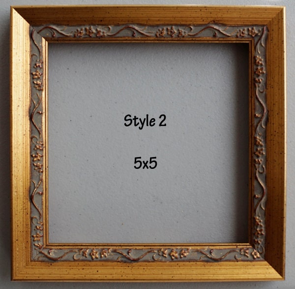 Photo Frame Picture Frame Square Frame 5x5 Wood By Focaldecor