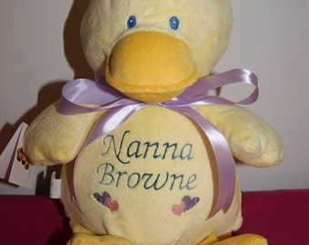 Bumbeeno Duck- Personalised Embroidered Cubbie