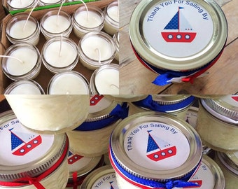 50  4 oz Quilted Mason Jar Favors, Any Occasion, Wedding, Showers, Birthdays