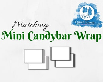 Matching MINY CANDYBAR WRAP- A-La-Carte or Add-On to any design in shop