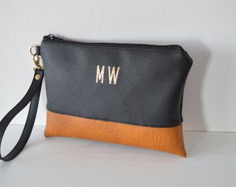 Personalized Wristlet, Imprinted Clutch Purse