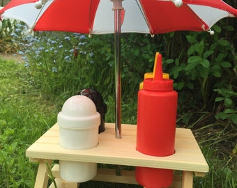 Condiment Picnic Bench 6 piece