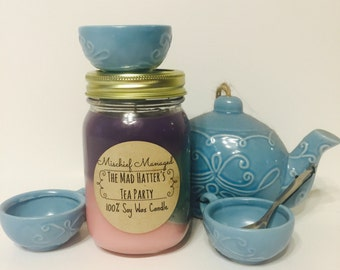 The Mad Hatter's Tea Party 100% soy candle