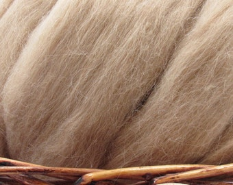 Fawn Baby Alpaca Top - Undyed Natural Spinning Fiber/ Roving - 1oz