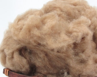 Dehaired Natural Camel Hair - Undyed Natural Spinning Fiber - 1oz