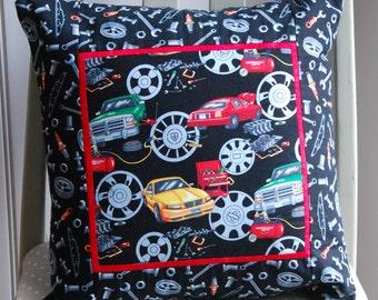 Cars Themed Cushion, Dads Cushion, Car Cushion, Car Pillow, Kids Cushion, Childrens Cushion, Grandads Cushion