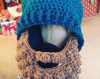 Bobble beard hat