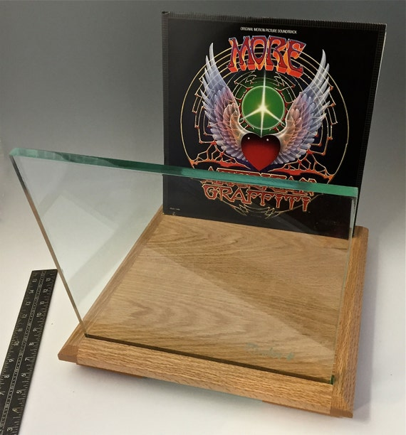 Red Oak Lp Vinyl Record Storage Stand Display Holder
