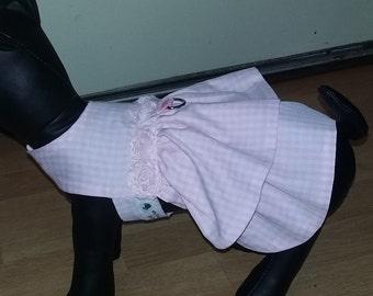 Pink Gingham Dog dress