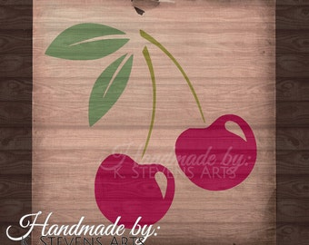 Cherry Decal - svg file - Cherry File for Silhouette - Cherry svg Cutting File For Cricut - Cherry file svg - fruit svg