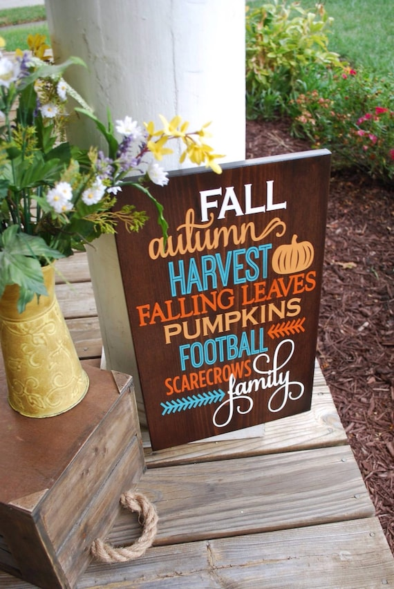 Fall wood sign home decor autumn home decor scarecrows for Scarecrow home decorations co ltd