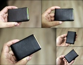 Limited Edition NERO Wallet - BLACK Nappa Leather Wallet, Minimalist Wallet, Mens Wallet, Womens Wallet RFID Blocking - Original Nero Wallet