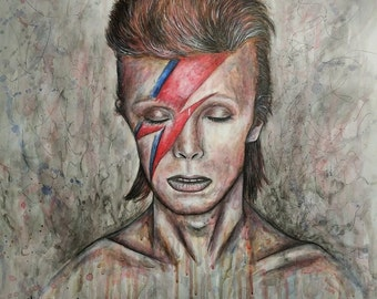 David Bowie Artwork Print A3