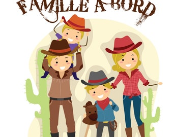 Sticker family brimmed 030