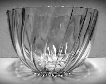 Mid Century, Bowl, Modern, Lead Glass, Antique, Retro