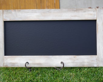 White Washed Distressed Chalkboard - Large - Rustic