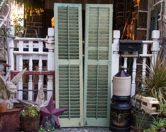 antique shutters old distressed rustic barn shutters with original hardware hinges architectural salvage antique pair of wooden shutters