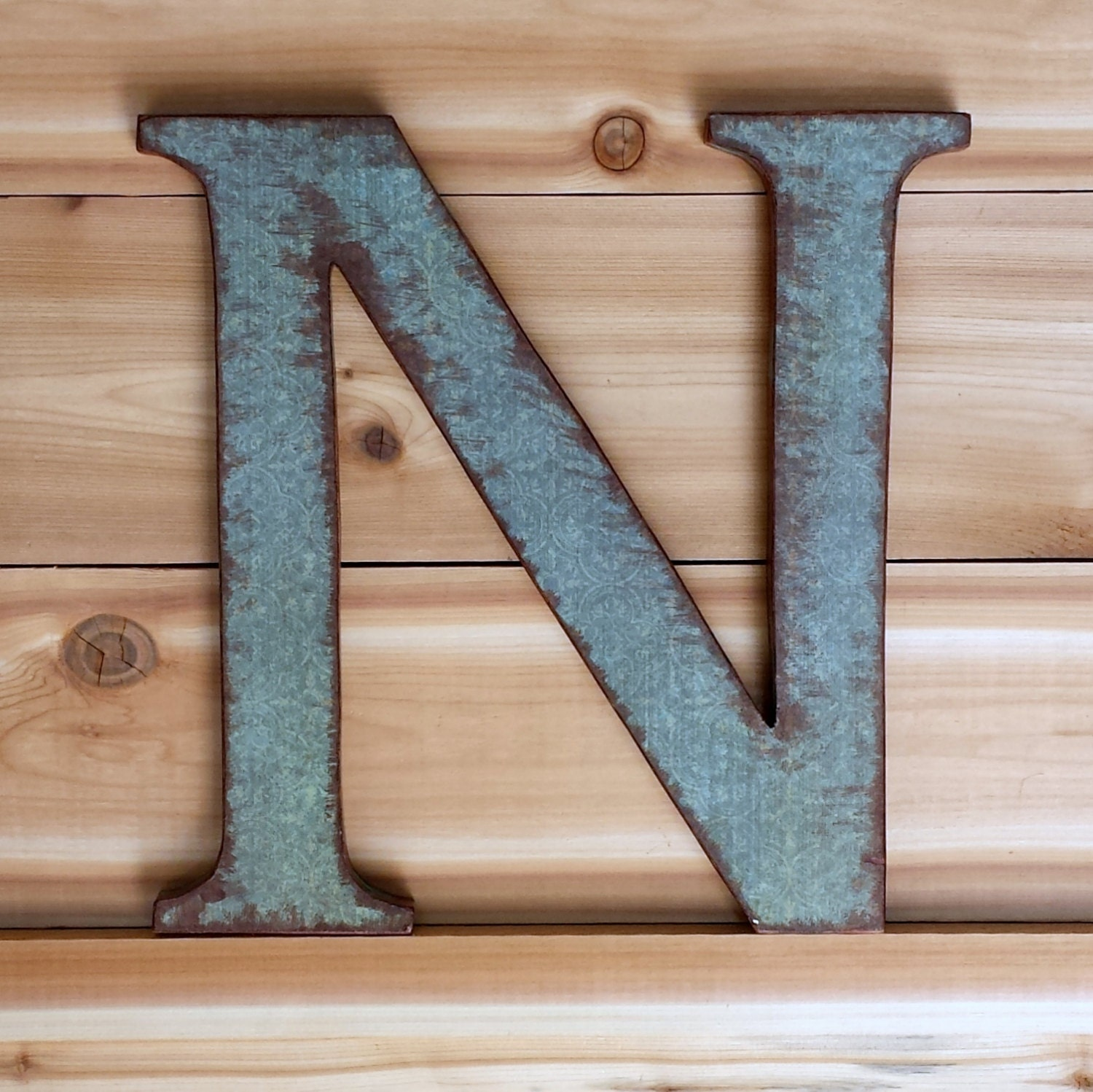 Letter n wood wall letter rustic decor wooden letter for Letter n decorations