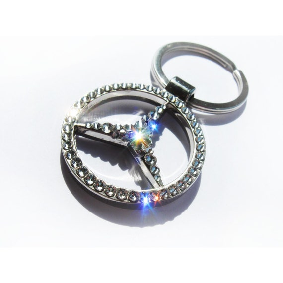 Mercedes keychain with swarovski has video by for Mercedes benz keychain