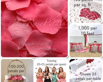 Bubblegum Rose Petals - 1,000 Silk Rose Petals Value Pack
