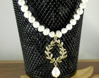SCA Laurel Freshwater Pearl Necklace - Elizabethan - Renaissance