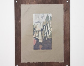 "Handmade Woodblock Print ""Hangar"""