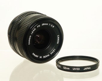 Vintage CANON NEW FD (FDn) 28mm f/2.8 Manual Focus Wide Angle Prime Lens, Circa: 1979, Vintage Perfect!!