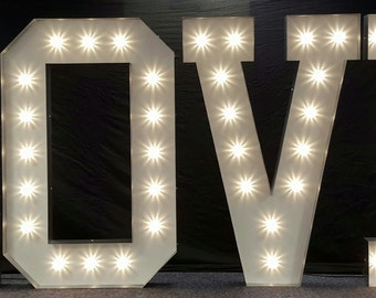Marquee light up letters '5ft LOVE'