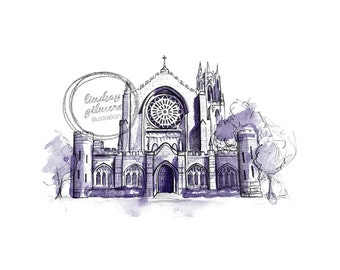 Sewanee All Saints' Chapel print