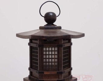 Japanese style lantern, made of solid fir wood.  (WL1)