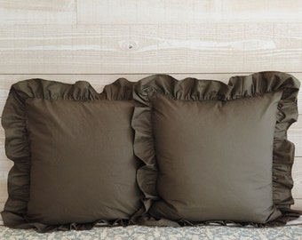 Euro Sham - Euro Pillow Sham - Euro Pillow Covers - Ruffled Euro Sham - Ruffled Euro Pillow Sham - Ruffled Pillow Sham - Ruffled Euros