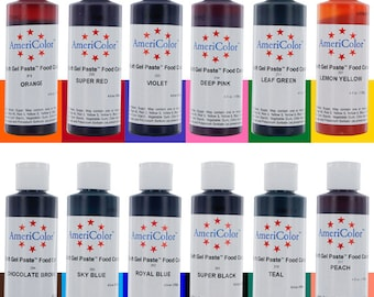 4.5 oz AmeriColor Soft Gel Paste  Food Color - 31 Colors!!! to choose from -