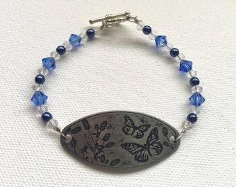 Pewter butterfly bracelet
